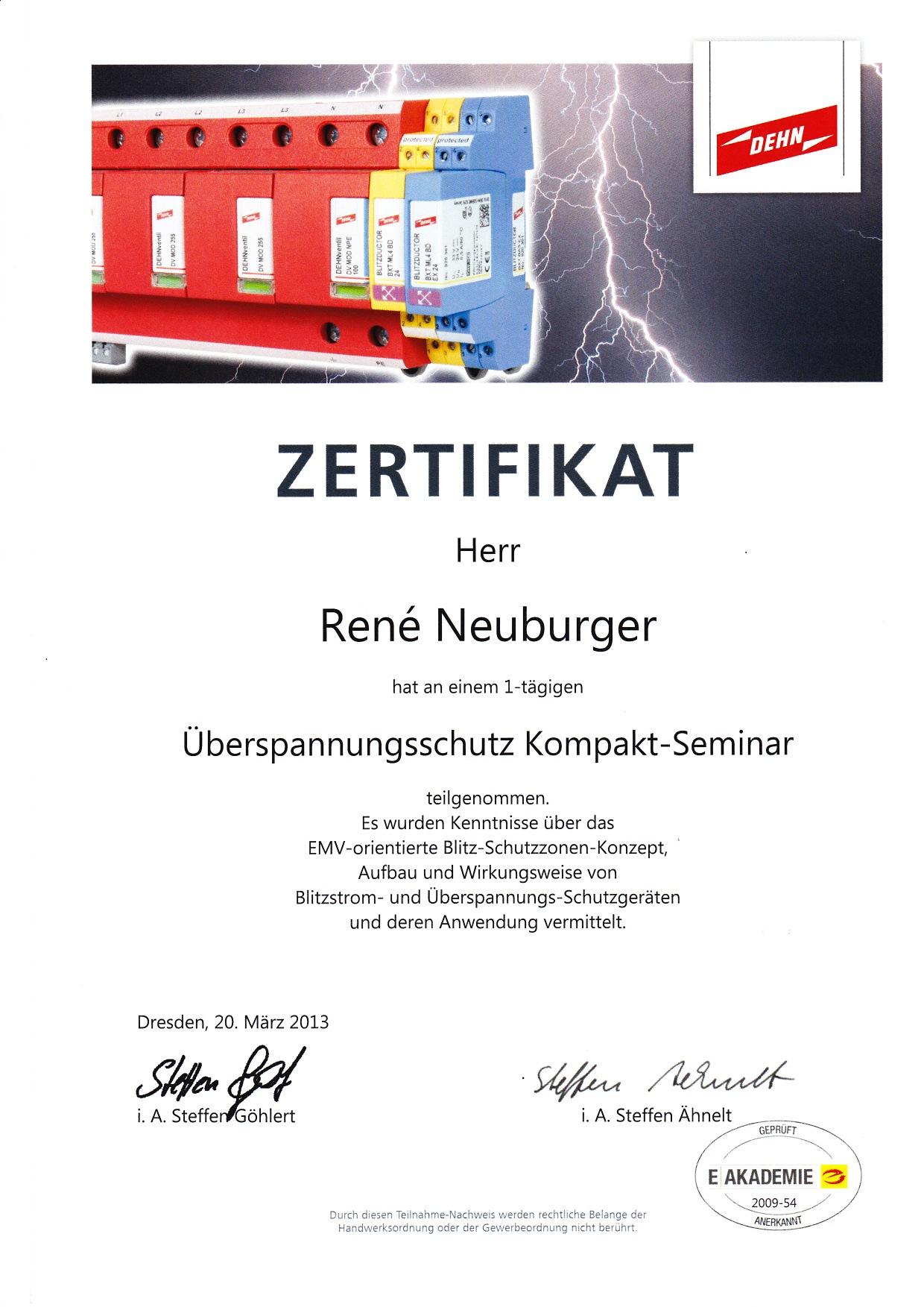 Blitzschutz 2013